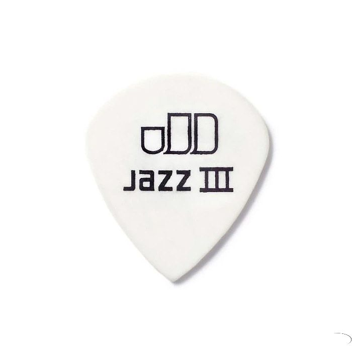 Picks Tortex White Jazz III Dunlop 478P1.14, 1.14, 12 Unidades